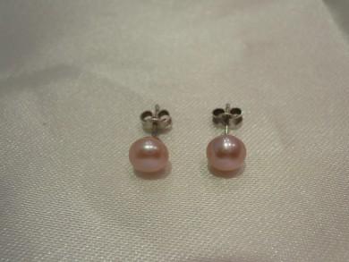 сребърни обеци с естественни перли